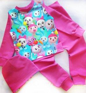 Новый костюм для девочки размер 92-98