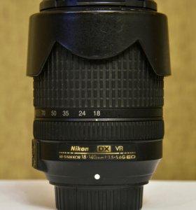 Объектив Nikon 18-140mm f/3.5-5.6G AF-S