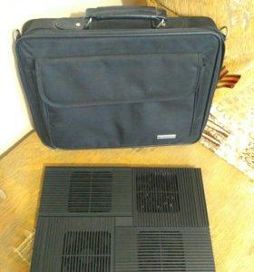Сумка и охлаждающая подставка для ноутбука