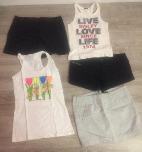 Футболки майки шорты юбки Sisley Gas H&M M