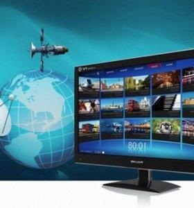 Установка настройка спутниковых антен и интернета