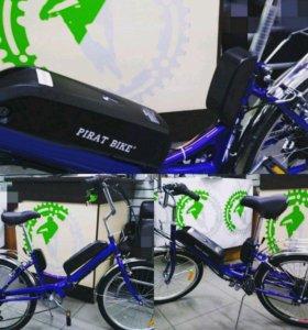 Новый Электровелосипед с мощной АКБ (складной/6ск)
