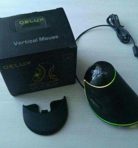Компьютерная вертикальная мышь DELUX