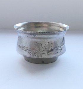 Царская старинная солонка. Серебро 84 пр.