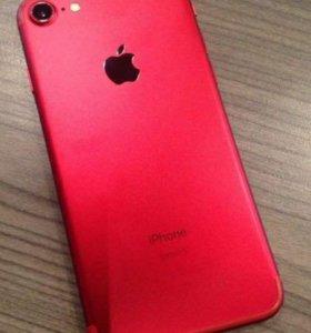 Айфон 7 128gb.красный (спец.серия)