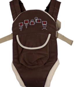 Рюкзак-кенгуру( переноска) коричневый, новый