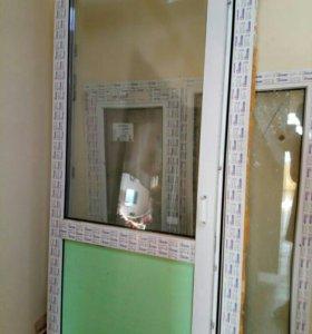 Двери и окно для балкона