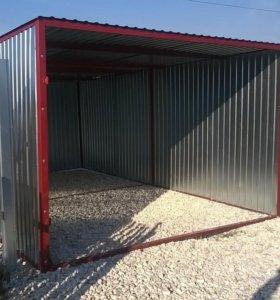 Новый сборный гараж-пенал