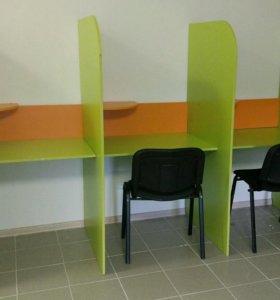 стойка кол центр - стол для 3 работников