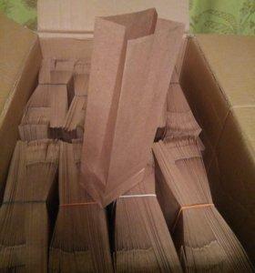 Крафтовые пакеты для упаковки чая/кофе, 100гр