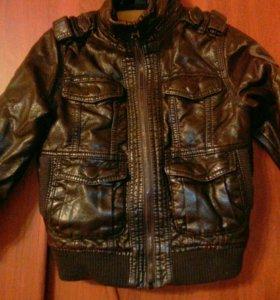 Куртка из кожзама. ZARA KIDS