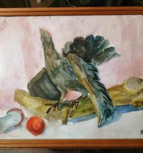 Картина начинающего художника 11лет(с автографом)