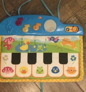 Тактильный синтезатор/мягкое пианино Babygo