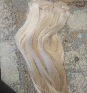Продам волосы .блонд.словянка.50см