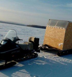 фото жилой домик на санях для снегохода