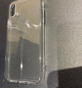 Прозрачный силиконовый чехол для iphone x (xs)
