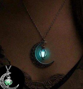 Подвесное ожерелье (флуоресцентный камень)
