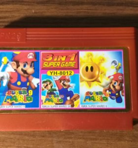 Картридж Super Mario 3 в 1
