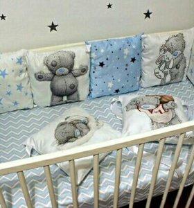 Бортики в кровать мишка Тедди