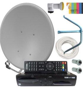 Установка и настройка спутникового ТВ МТС, НТВ+