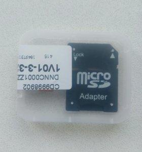 64 г. Флеш-память микро с адаптером