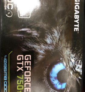Видеокарта gigabyte GeForce GTX 750 Ti, 4GB, DDR5