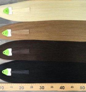 Волосы натуральные на заколках 50-60 см