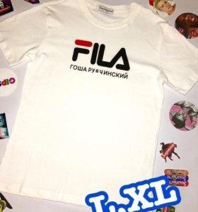 Блмбическая футболка Fila&Гоша Рубчинский