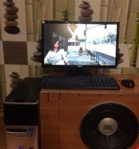 Игровой компьютер+большой монитор!