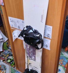 Сноуборд, крепления, комплект. 157 см.