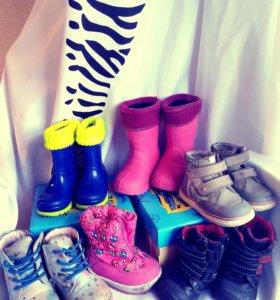 Обувь р-р 20-23: резиновые сапоги, сапоги, ботинки