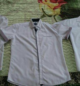 Рубашки белые мужские размер L