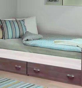 Кровать-7 с 2мя ящиками