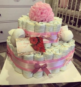 Торт из подгузников-памперсов