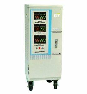Стабилизатор напряжения EST 20000/3 SM, 3-фазный