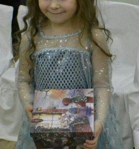 Платье Эльзы 104-110