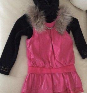 Платье для Девочки с мехом новое