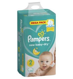 Памперс 4-8кг mega pack 144 шт