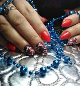 Наращивание ногтей, гель лак (Заводской!)