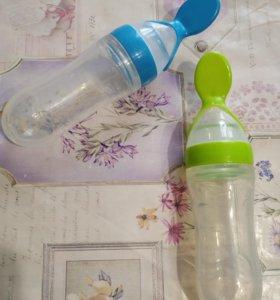 """Бутылочка """"моя первая ложка""""+ ниблер"""