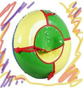 Санки ватрушки 110 см тент 100%
