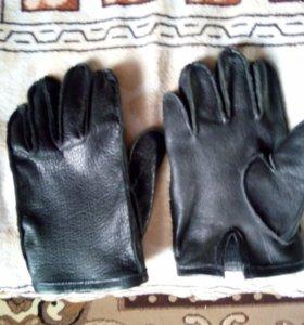 Перчатки из толстой натуральной кожи ручная работа