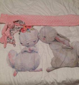 Одеяло в кроватку и сплюшка