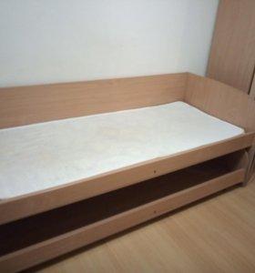 Кровать детская двухярусная, выкатная