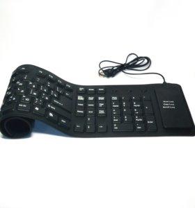 🔥 Гибкая Клавиатура USB 109 кл, Силикон Eng/Rus