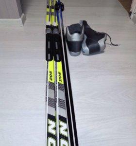 Лыжи ботинки палки