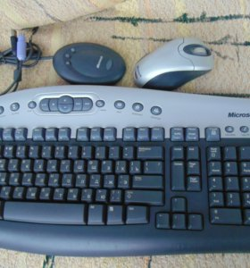 Клавиатура Microsoft, мышка, ресивер