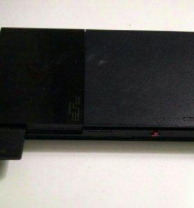 Sony PS2 (с картой памяти, с джойстиком + 2 игры)