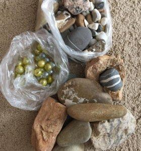Камушки и декор для аквариума.