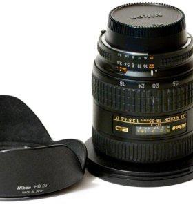 Полнокадровый ширик Nikon 18-35 ED коробка